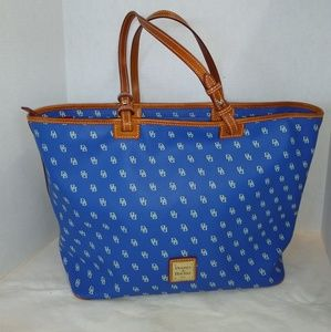 DOONEY & BOURKE BLUE W/ BONE DB LOGO LARGE SH